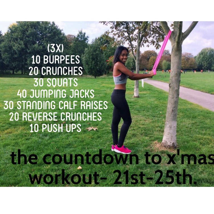 THE COUNTDOWN TO X'MAS WORKOUT:- THE LAST STRETCH!