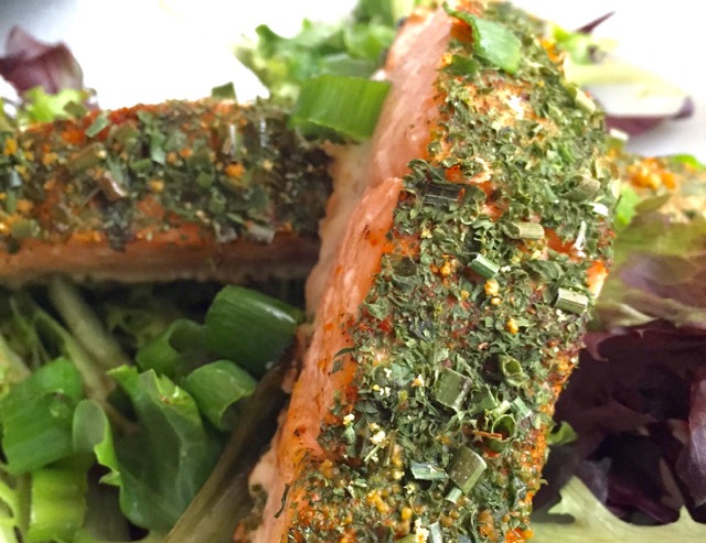 HERB-CRUSTED SALMON! (PICTURES ONLY)