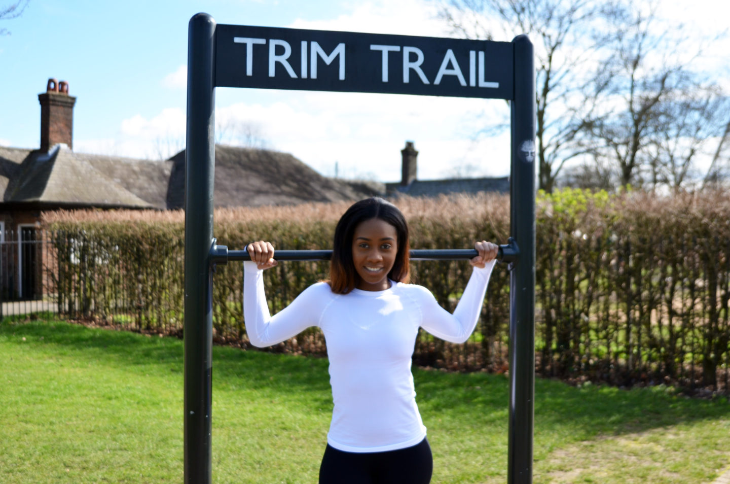 WORKING OUT AT TRIM TRAIL, PRIMROSE HILL