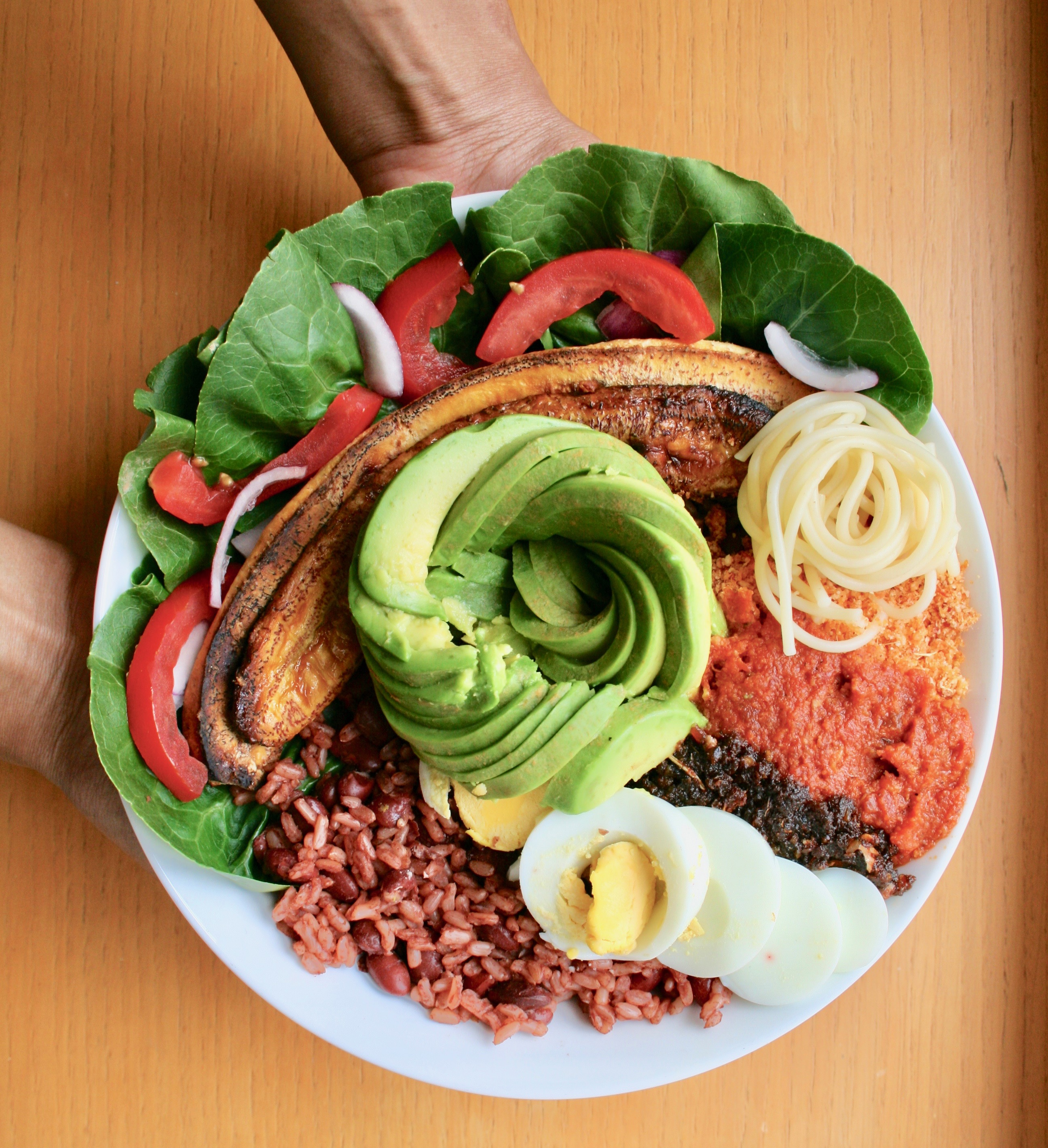 Brown rice waakye buddha bowl 2