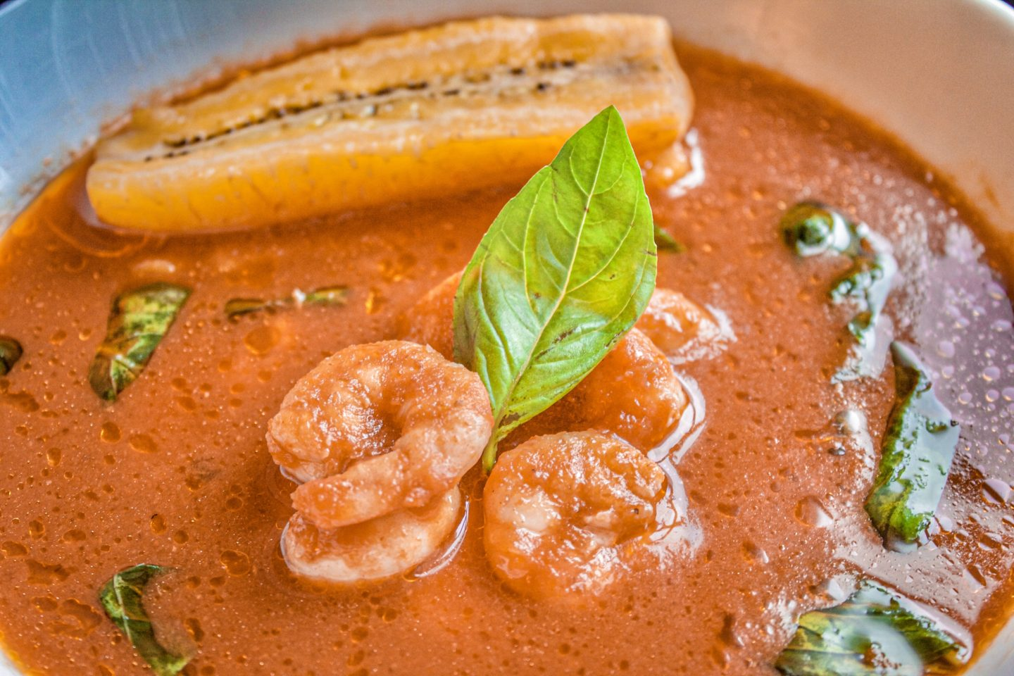 Prawn and Basil Light Soup